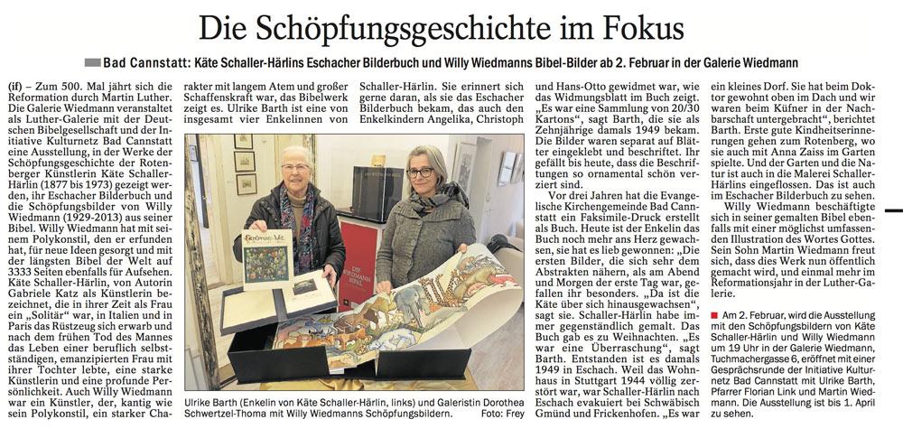 Source: Cannstatter/Untertürkheimer/Esslinger Zeitung 10.01.2017
