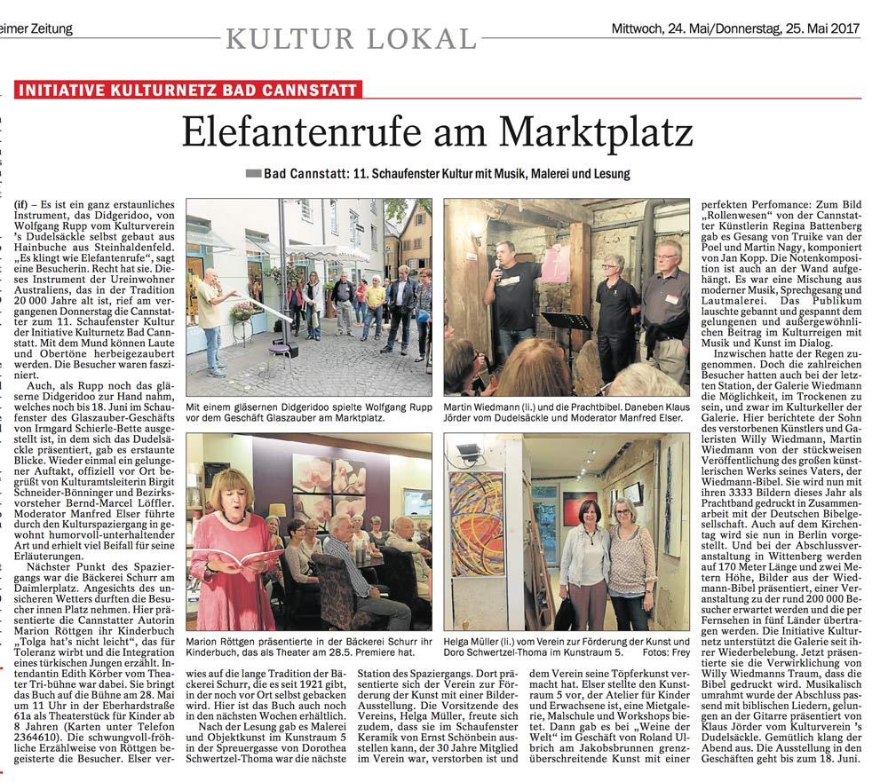 Source: Cannstatter/Untertürkheimer Zeitung. 24.05.2017